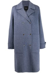 Theory Military Coat Blue