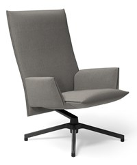 Knoll Pilot By Lounge Chair High Back With Upholstered Arm