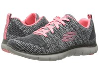 Skechers Flex Appeal 2.0 High Energy Charcoal Gray Women's Shoes Multi