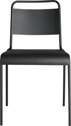 Cb2 Lucinda Black Stacking Chair