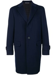 Canali Single Breasted Coat Blue