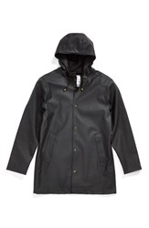 Men's Stutterheim 'Arholma Black' Waterproof Hooded Raincoat