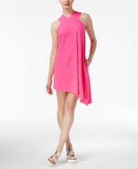 Rachel Roy Asymmetrical Shift Dress Only At Macy's Neon Pink
