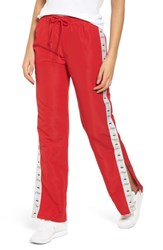 Obey Cerise Snap Trim Track Pants Red