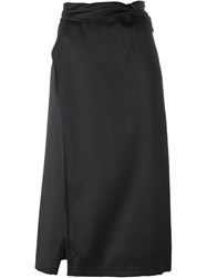 3.1 Phillip Lim Knotted Wrap Skirt Black
