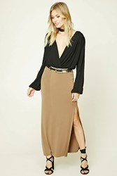 Forever 21 Contemporary Maxi Skirt Brown