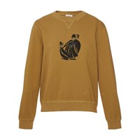 Lanvin Mother And Daughter Print Sweatshirt Taupe