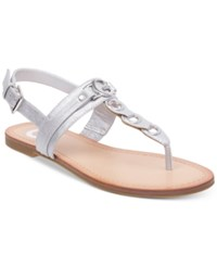 G By Guess Lesha Flat Sandals Women's Shoes Silver