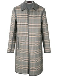Martin Grant Reversible Checked Coat 60