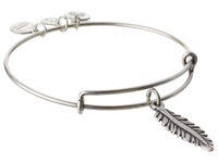 Alex And Ani Feather Charm Bangle Rafaelian Silver Finish Bracelet