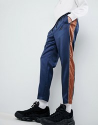 Mennace Joggers In Navy Sateen