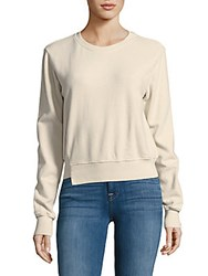 Mother The Step Matchbox Sweatshirt Ivory