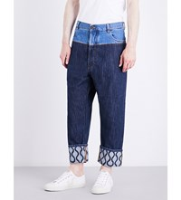 Anglomania Samurai Cropped Mid Rise Jeans Blue Denim