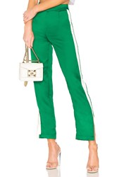 By The Way Lynna Side Slit Track Pant Green