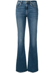 Frame Le High Swiss Alps Flare Jeans Blue