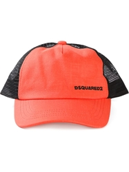 Dsquared2 Logo Baseball Cap Yellow And Orange