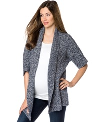 A Pea In The Pod Maternity Short Sleeve Open Front Cardigan Dark Wisteria