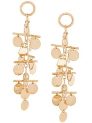 Eddie Borgo Hanging Coin Earrings Metallic