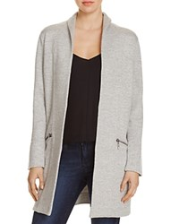 Nic Zoe And Modernist Heathered Open Front Jacket Heather Grey