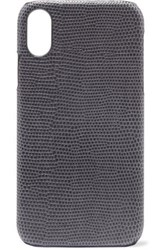 The Case Factory Lizard Effect Leather Iphone Xr Gray
