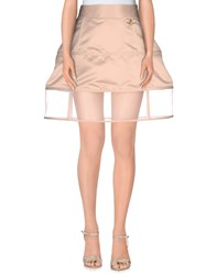 Elisabetta Franchi Gold Skirts Knee Length Skirts Women Skin Color