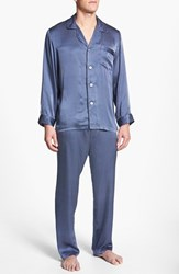Majestic International Men's 'Cypress' Silk Pajamas