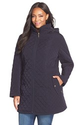 Plus Size Women's Gallery Hooded Quilted Jacket