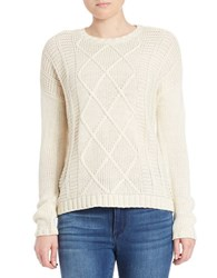 Buffalo David Bitton Textured Knit Pullover Ivory