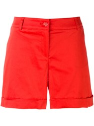 P.A.R.O.S.H. Turn Up Shorts Women Cotton Spandex Elastane Xs Red