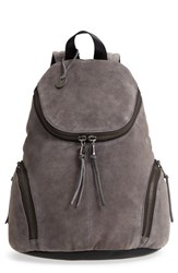 John Varvatos Collection Brooklyn Suede Backpack Black Lead