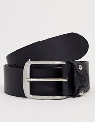 Timberland Leather Belt In Black