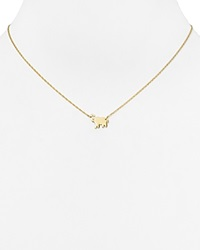 Jennifer Zeuner Jewelry Jennifer Zeuner Erin Mini Elephant Necklace 16 Gold