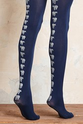 Anthropologie Cobalt Tights Blue