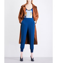 Stella Mccartney Cecile Faux Suede Trench Coat Cedar