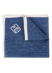 Corneliani Denim Effect Fine Knit Pocket Square Blue