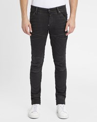 G Star Faded Black Super 3D Knee Patch Slim Jeans