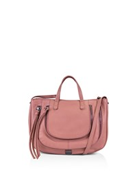 Kooba Monteverde Leather Satchel Guava Pink Gunmetal