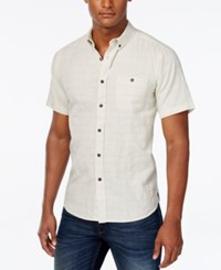 Ezekiel Men's One Way Tile Stripe Short Sleeve Shirt Oatmeal