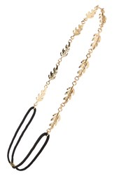 Bp Metal Leaf Headband Gold