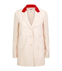 Givenchy Contrast Lapel Long Blazer Female Neutral