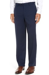 David Donahue Men's Big And Tall 'Ryan' Regular Fit Wool Trousers Navy