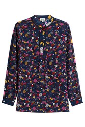 Kenzo Printed Silk Blouse Multicolor