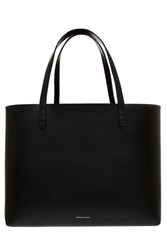 Mansur Gavriel Large Leather Tote Bag Black