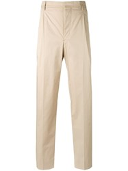 Christophe Lemaire Chino Trousers Men Cotton Spandex Elastane 48 Nude Neutrals