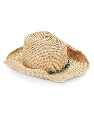 San Diego Hat Co. Bead Accented Cowboy Hat Natural