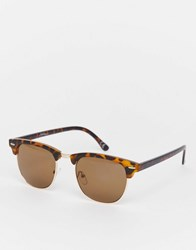 Jeepers Peepers Flatbrow Sunglasses In Matt Tort Brown
