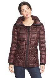 Women's Bernardo Glossy Packable Mixed Quilted Jacket With Down And Primaloft Fill