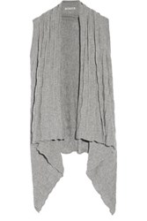 Autumn Cashmere Draped Sweater Gray