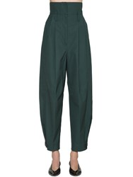 Givenchy High Waist Cotton Canvas Cargo Pants Green