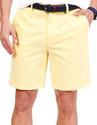 Nautica Big And Tall Flat Front Deck Shorts Yellow